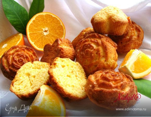 """Апельсиновые маффины """"Золотое руно"""""""