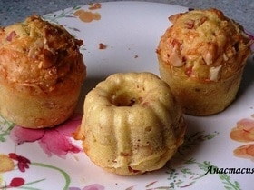 Маффины с сыром и орехами макадамии
