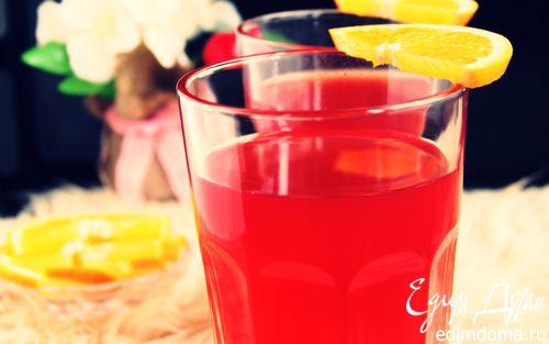 Рецепт Ягодный морс с медом и имбирем