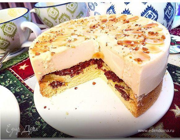 Торт-мусс с соленой карамелью