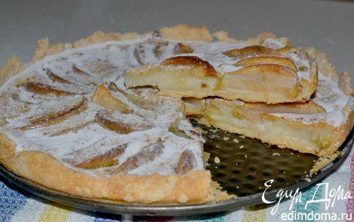 Рецепт Пирог с яблоками и сметанной заливкой