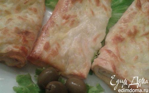 Рецепт Лаваш под грилем с сырной корочкой
