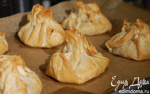 Рецепт Пирожки из теста фило с рисом и грибами