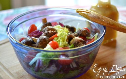 Рецепт Салат и домашняя медово-горчичная заправка для салата