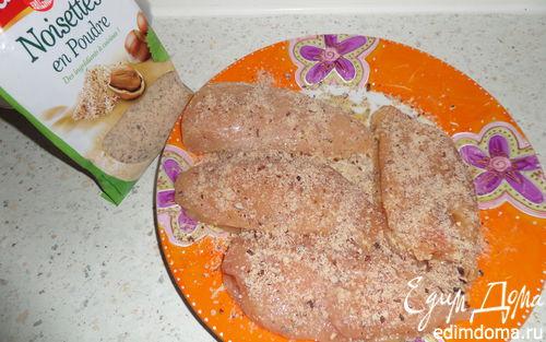 Рецепт Ароматное куриное филе в ореховой панировке