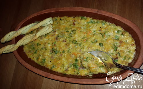 Рецепт Запеканка из чечевицы с кабачком и сыром.