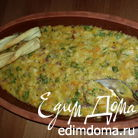 Запеканка из чечевицы с кабачком и сыром.