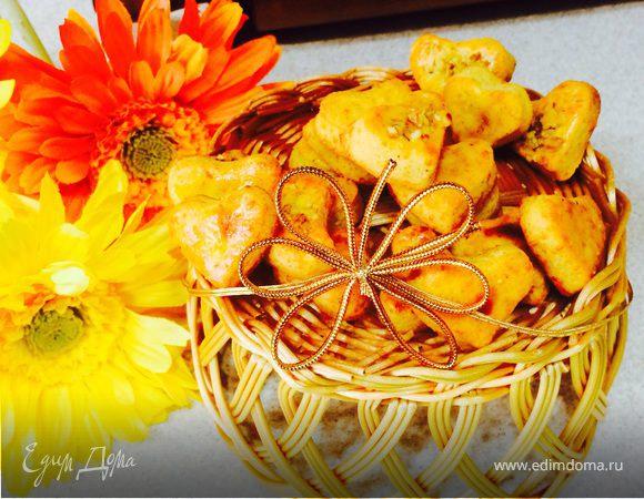 Сырное печенье с кайенским перцем