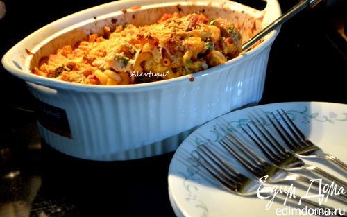 Рецепт Запеченная курица с пастой по-итальянски