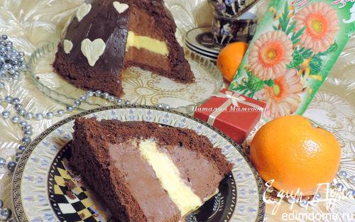 Рецепт Цукотто (торт-купол) с апельсиновым и шоколадным муссами