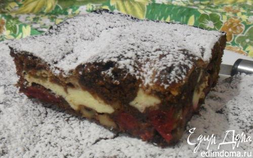 Рецепт Брауни с вишнями и орехами