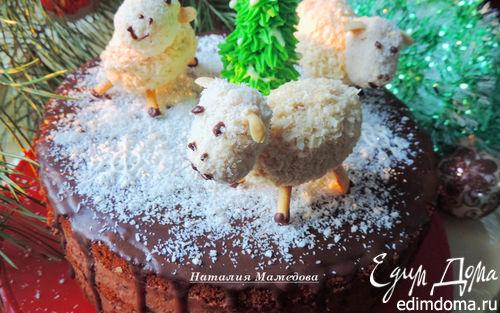 """Рецепт Медовый торт с черносливом и шоколадом """"Веселый хоровод"""""""