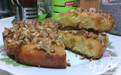 Рецепт Тыквенный пирог с лимонной заливкой и орехами