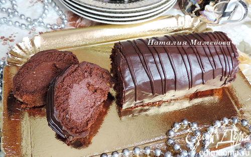"""Рецепт – Шоколадный рулет с арахисовым пралине """"Трюфельный"""""""