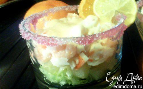 Рецепт Коктейль из морепродуктов с розовым соусом