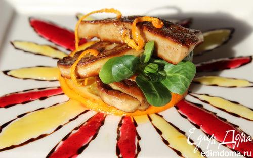 Рецепт Фуа-гра с клюквенным и апельсиновым соусами