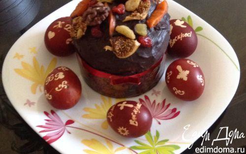 Рецепт Кулич пасхальный шоколадный (фруктовый)