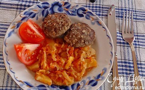 Рецепт Золотистая капуста с картофелем и гречневые котлеты
