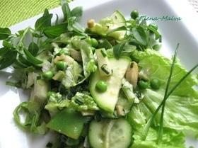 Салат «Семь оттенков зеленого»