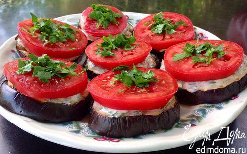 Рецепт Баклажаны-гриль с острой сметаной заправкой