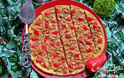 Рецепт Омлет с фасолью и овощами