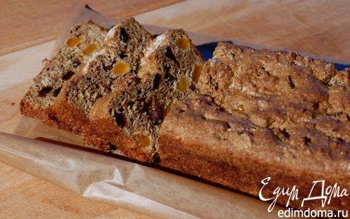 Рецепт Домашний хлеб с отрубями, изюмом и курагой