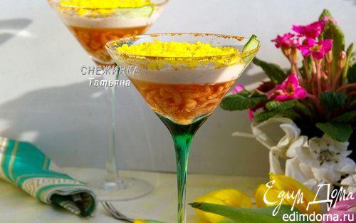 Рецепт Закуска с креветками в вине и муссом из форели «Вдохновение весной»
