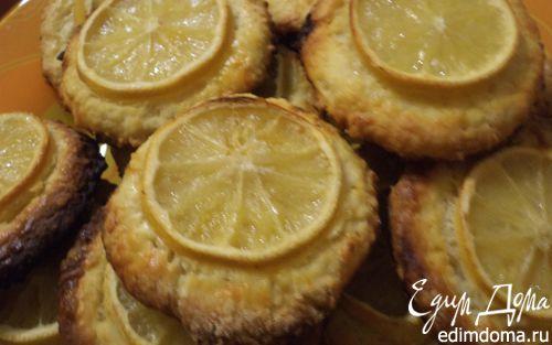 Рецепт Миндальное печенье с лимонными дольками