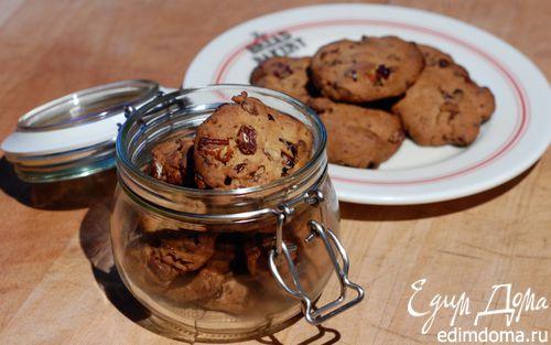 Рецепт Печенье с клюквой и орехами пекан