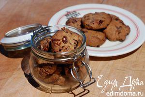 Печенье с клюквой и орехами пекан