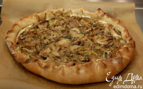 Рецепт Галета с грибами, творогом и луком-пореем