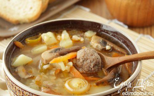 Рецепт Суп с булгуром и фрикадельками
