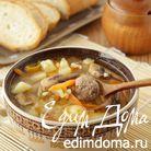 Суп с булгуром и фрикадельками