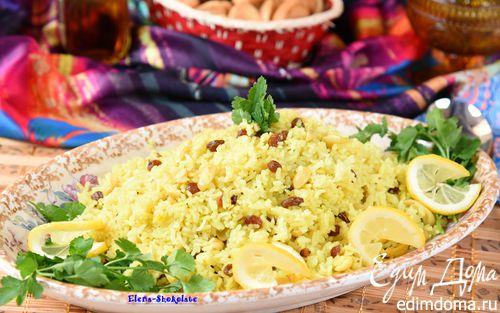 Рецепт Восточный рис с кокосовым молоком, изюмом и кешью
