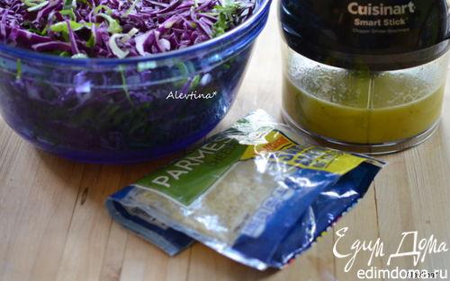 Рецепт Заправка лимонная и салат из красной капусты