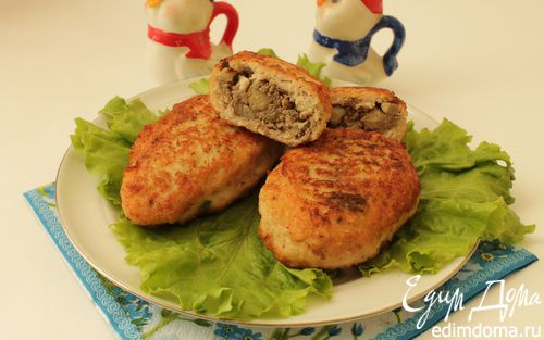 Рецепт Куриные зразы с печенью и яблоками