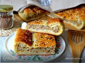 Постный картофельный пирог с гречкой