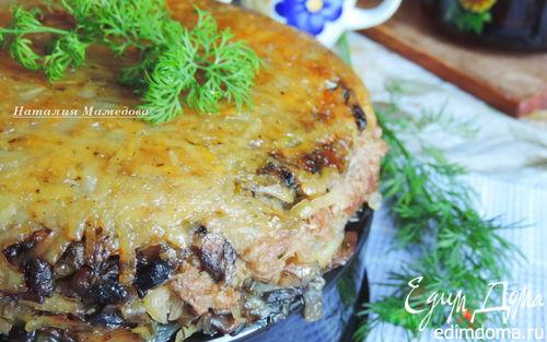 Рецепт Постная картофельная запеканка с грибами в мультиварке