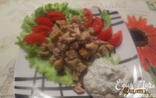 Рецепт Салат из курицы с маковой заправкой