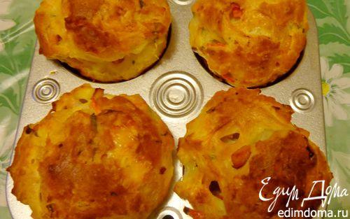 Рецепт Заварные булочки с ветчиной, сыром и болгарским перцем