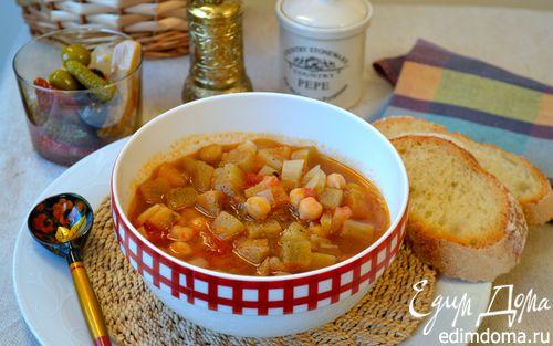 Рецепт Томатно-баклажановый суп с нутом