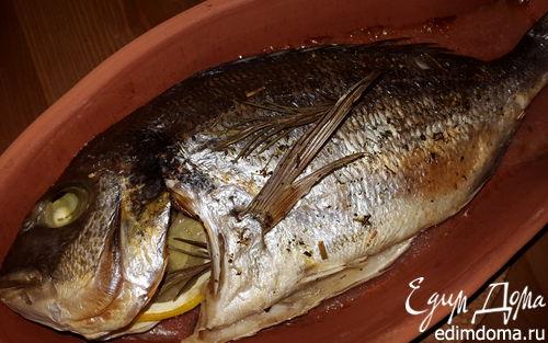 Рецепт Морской лещ, запеченный с розмарином, лимоном и имбирем