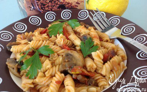 Рецепт Паста в томатном соусе с грибами