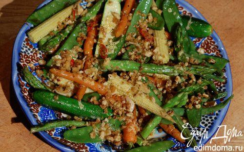 Рецепт Весенние овощи под хрустящим крамблом