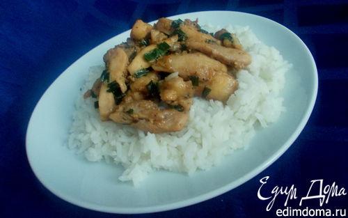 Рецепт Курица в мандариново-соевом маринаде с рисом