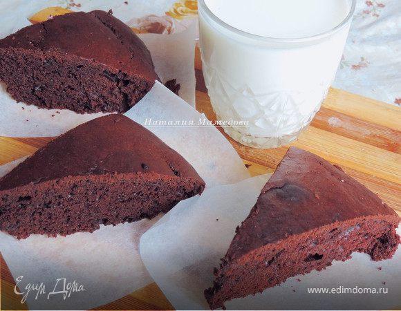 Простейший шоколадный пирог на сметане