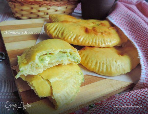 Духовые лепешки с сырно-творожной начинкой