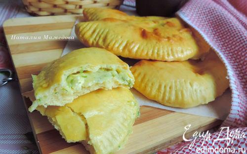 Рецепт Духовые лепешки с сырно-творожной начинкой