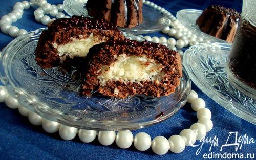 Рецепт Кокосовые пирожные в шоколаде