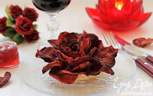 Рецепт Роза из свекольных чипсов